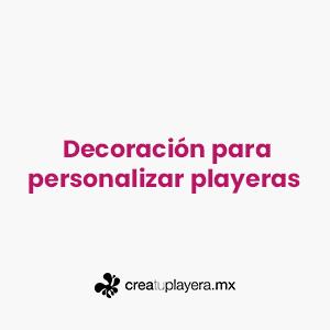 Decoración para personalizar playeras