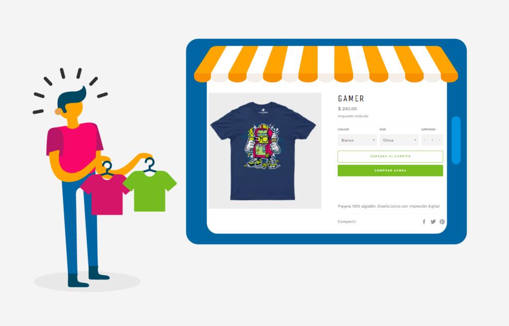 ¿Cómo puedo crear un producto con Crea tu Playera en mi tienda Shopify?