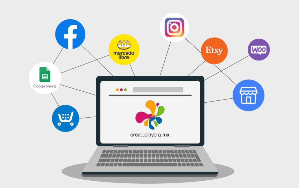 ¿Cómo conecto mi tienda alojada en redes sociales, marketplace, páginas alojadas en plataformas distintas a Shopify o de desarrollo propio a Crea tu Playera?